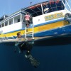 Boarding Naring after the dive
